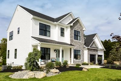 Bellwood Traditional Exterior. 4br New Home in Tatamy, PA