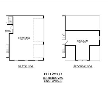 Optional Bonus Room. Bellwood New Home in Tatamy, PA