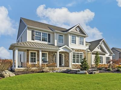 Bellwood Country Exterior. 4br New Home in Tatamy, PA