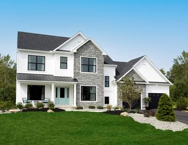 Bellwood Traditional Exterior. 2,640sf New Home in Tatamy, PA