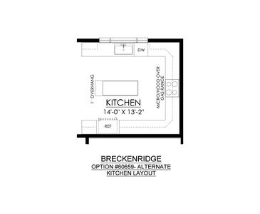 Optional Alternate Kitchen. Breckenridge Grande New Home in Easton, PA