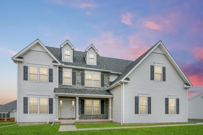 Breckenridge Farmhouse Exterior. 2,954sf New Home in Drums, PA