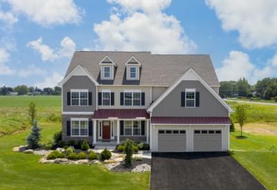 Breckenridge Grande Farmhouse Exterior. Breckenridge Grande New Home in Easton, PA