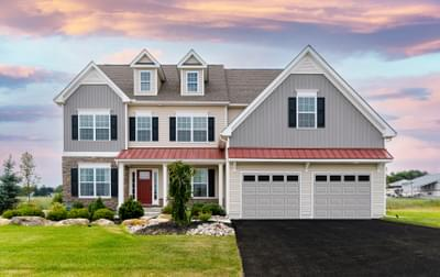 Breckenridge Grande Farmhouse Exterior. 4br New Home in Easton, PA