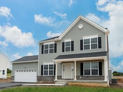 Chapman Country Exterior. 2,144sf New Home in Schnecksville, PA