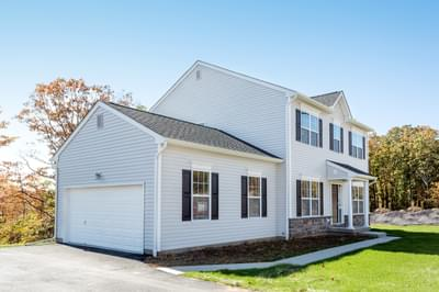 Chapman Traditional Exterior. Chapman New Home in Schnecksville, PA