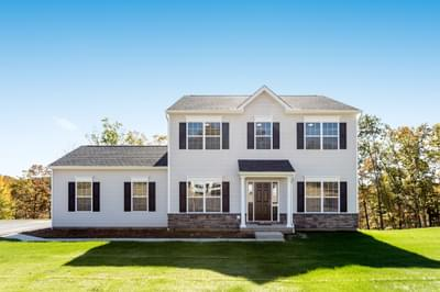 Chapman Traditional Exterior. 4br New Home in Schnecksville, PA