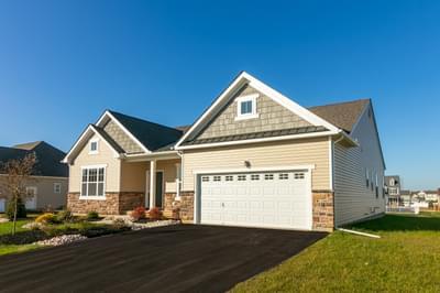 Folino Craftsman Exterior. New Home in Schnecksville, PA