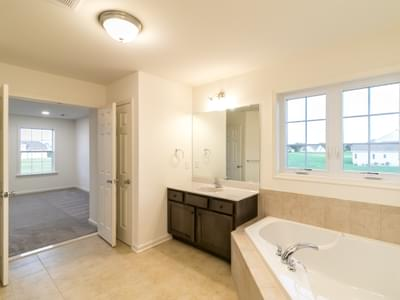 Jereford Owner's Bath. New Home in Easton, PA