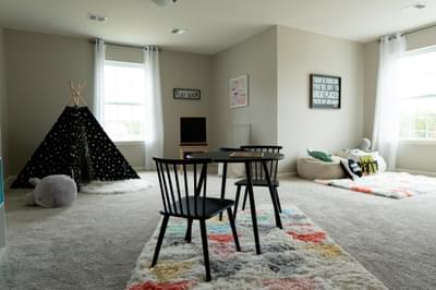 Kingston Optional Bonus Room. Kingston New Home in Coopersburg, PA