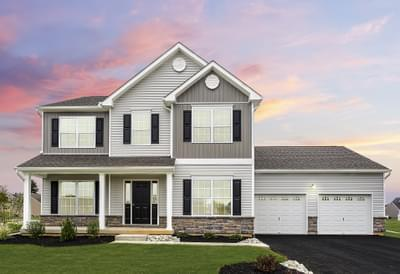Kingston Country - Exterior. 2,475sf New Home in Coopersburg, PA