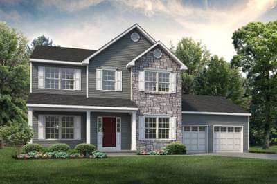 The Kingston New Home Plan in Easton PA
