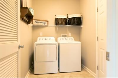 Kingston First Floor Laundry. New Home in Coopersburg, PA