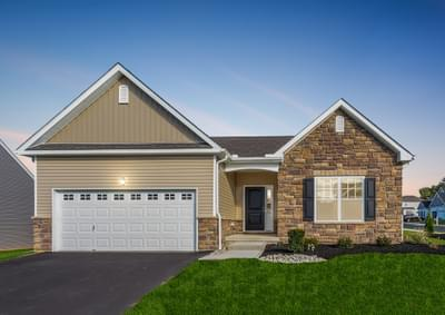 Pinehurst Country Exterior. New Home in Drums, PA