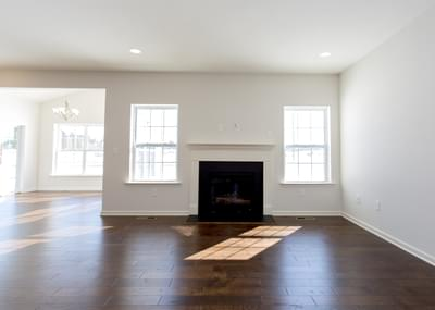 St. Andrews Great Room with Optional Fireplace. 1,776sf New Home in White Haven, PA