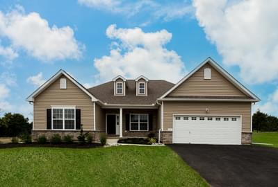 Woodbury Traditional Exterior. Easton, PA New Home