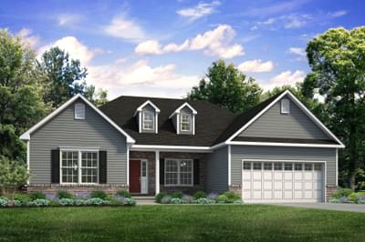 The Woodbury New Home Plan in Easton PA