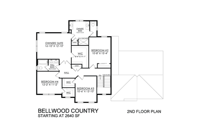 Bellwood Country Base - 2nd Floor. Tatamy, PA New Home
