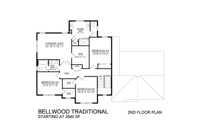 Bellwood Traditional Base - 2nd Floor. New Home in Tatamy, PA