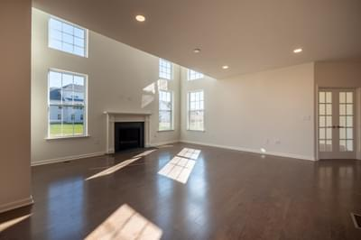 Jereford Great Room. 3,442sf New Home in Easton, PA