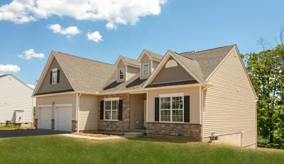 St. Andrews Traditional Exterior. 3br New Home in White Haven, PA
