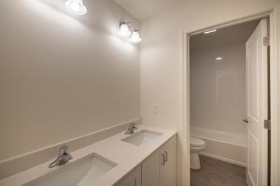 Franklyn Hall Bath. Franklyn New Home in Schnecksville, PA