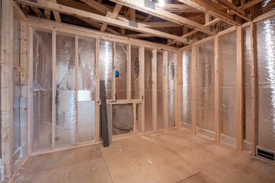 Franklyn Second Floor Unfinished Storage Area. New Home in Schnecksville, PA