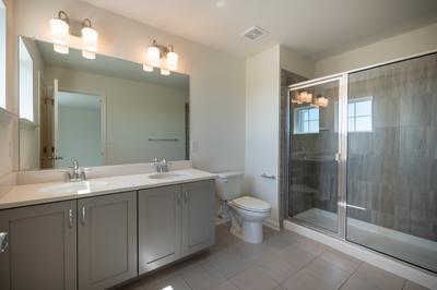 Whitehall Owner's Bath. 3br New Home in Schnecksville, PA