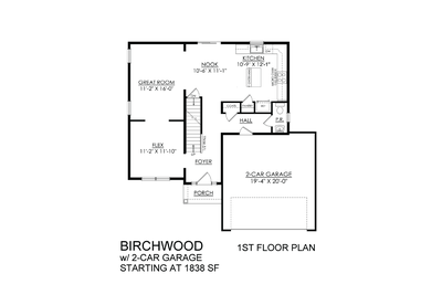 Birchwood Base - 1st Floor. New Home in Drums, PA