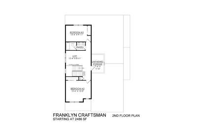 Craftsman Base - 2nd Floor. New Home in Schnecksville, PA