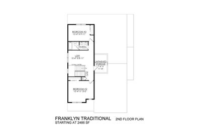 Traditional Base - 2nd Floor. 3br New Home in Schnecksville, PA