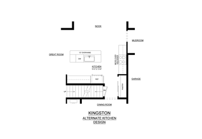 Alternate Kitchen Layout. New Home in Coopersburg, PA