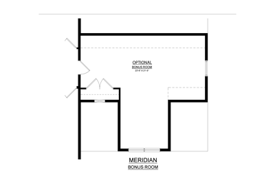 Optional Bonus Room. Meridian New Home in Tatamy, PA