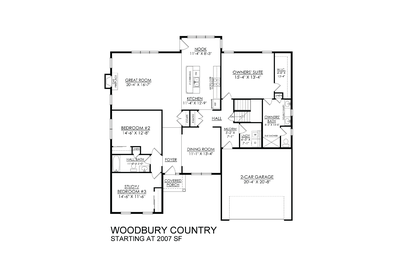 Country Base. 2,007sf New Home in Easton, PA