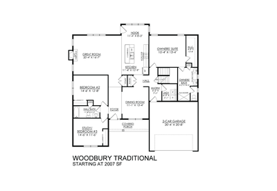 Traditional Base. Woodbury New Home in Easton, PA