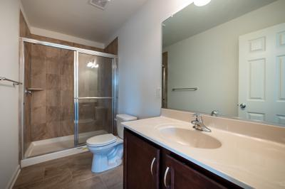 Towns at Woods Edge - Owner's Bath. New Home in Drums, PA