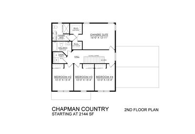 Chapman Country Base - 2nd Floor. Chapman New Home in Schnecksville, PA