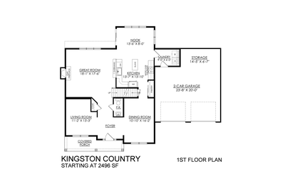 Kingston Country Base - 1st Floor. New Home in Coopersburg, PA