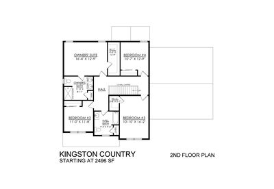 Kingston Country Base - 2nd Floor. Coopersburg, PA New Home