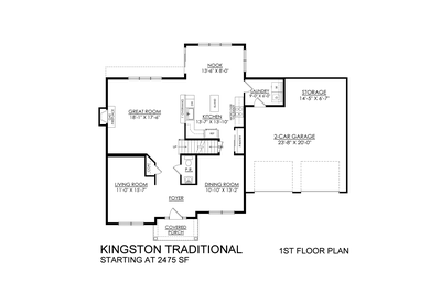 Kingston Traditional Base - 1st Floor. 4br New Home in Coopersburg, PA