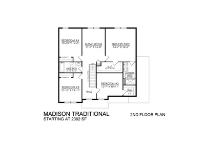 Madison Traditional Base - 2nd Floor. Schnecksville, PA New Home