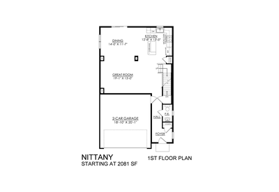Nittany Base - 1st Floor. New Home in Drums, PA