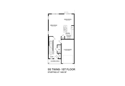 Towns at Woods Edge - Sand Springs - 1st Floor. New Home in Drums, PA